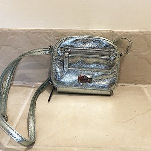 🆕 Nicole Miller silver mini crossbody bag